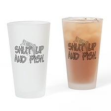 Shut up and fish. Drinking Glass
