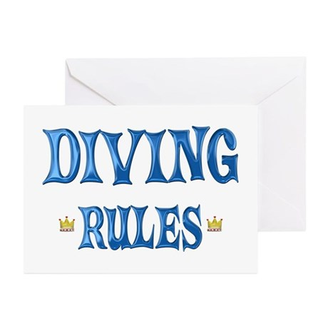 Diving Rules Greeting Cards (Pk of 20)