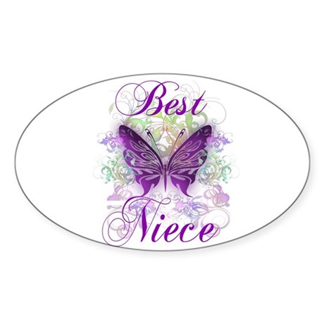 Best Niece Sticker (Oval)