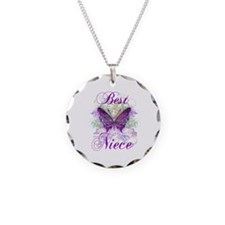 Best Niece Necklace Circle Charm