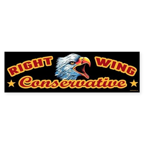 Right Wing Conservative Sticker (Bumper)