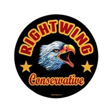 """Right Wing Conservative 3.5"""" Button (100 pack)"""