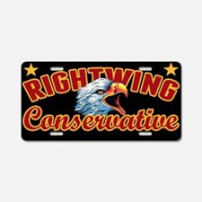 Right Wing Conservative Aluminum License Plate
