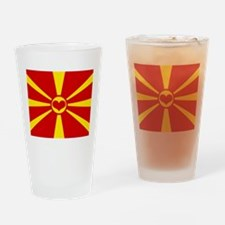 macedonian flag Drinking Glass