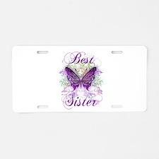 Best Sister Aluminum License Plate
