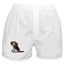 Cute Tri-color Beagle Boxer Shorts