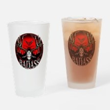 Club bad ass Drinking Glass