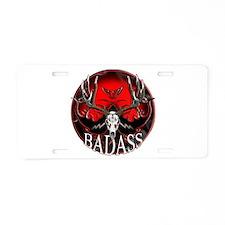 Club bad ass Aluminum License Plate