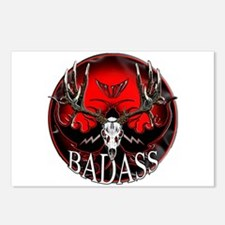 Club bad ass Postcards (Package of 8)