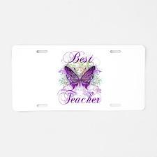 Best Teacher Aluminum License Plate