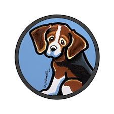 "Cute Tri-color Beagle 3.5"" Button (100 pack)"