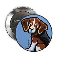 "Cute Tri-color Beagle 2.25"" Button (10 pack)"