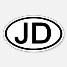 JD - Initial Oval Oval Decal
