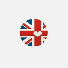 union jack love Mini Button (10 pack)