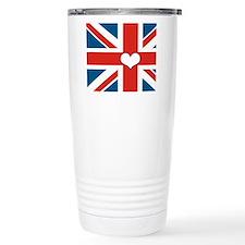 union jack love Travel Mug