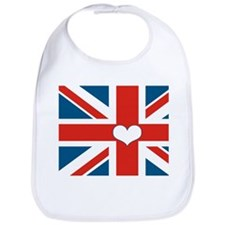 union jack love Bib