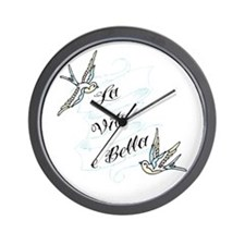 La Vita e Bella - Life is Bea Wall Clock