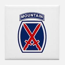 10th Mountain Division Tile Coaster