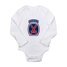 10th Mountain Division Long Sleeve Infant Bodysuit