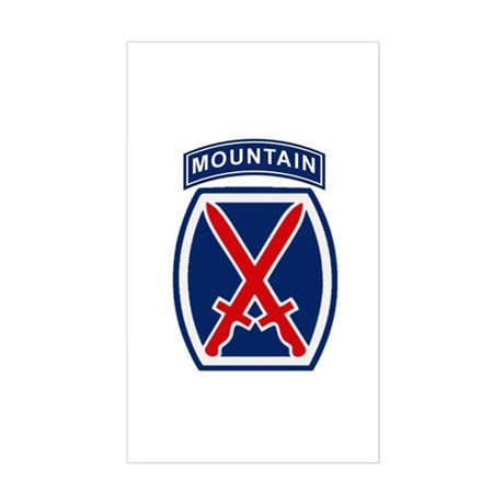 10th Mountain Division Sticker (Rectangle)