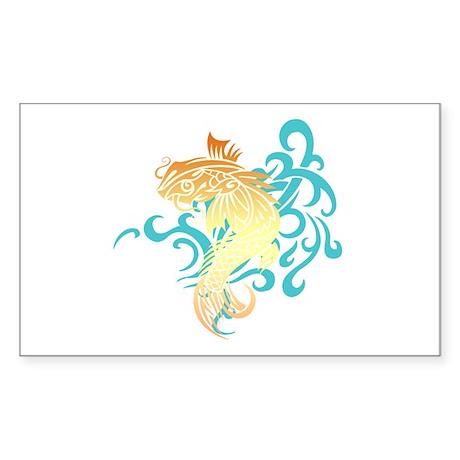 Coi Fish Sticker (Rectangle)