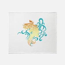Coi Fish Throw Blanket