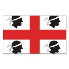 Sardinia Flag Rectangle Decal