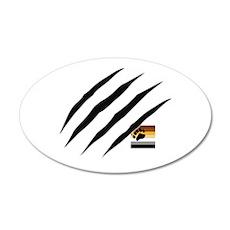 Bear Scratch 22x14 Oval Wall Peel