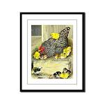 Mother Hen Framed Panel Print