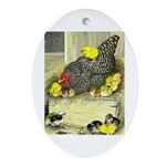 Mother Hen Oval Ornament