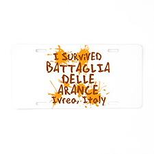 Battle of Oranges Aluminum License Plate
