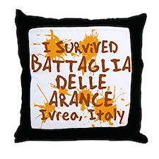 Battle of Oranges Throw Pillow