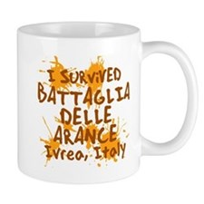 Battle of Oranges Mug