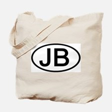 JB - Initial Oval Tote Bag