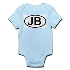 JB - Initial Oval Infant Creeper
