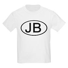 JB - Initial Oval Kids T-Shirt