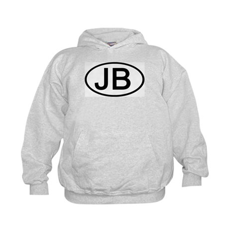 JB - Initial Oval Kids Hoodie