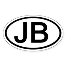 JB - Initial Oval Oval Decal