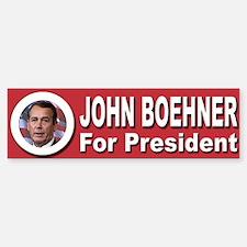 John Boehner for President Bumper Bumper Sticker