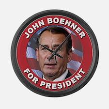 John Boehner for President Large Wall Clock