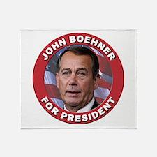 John Boehner for President Throw Blanket