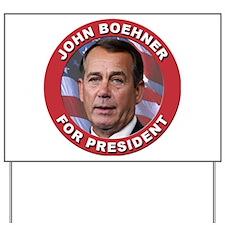 John Boehner for President Yard Sign