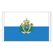 San Marino Flag Rectangle Decal