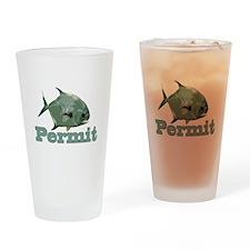 Record Permit Drinking Glass