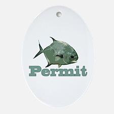 Record Permit Ornament (Oval)