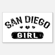 San Diego Girl Sticker (Rectangle)