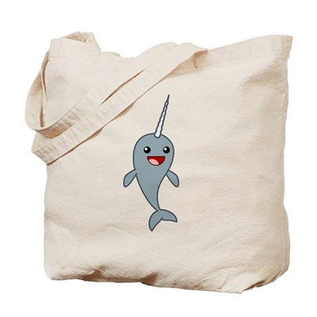Happy Narwhal Tote Bag