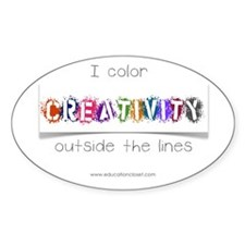 Creativity Colors Outside the Lines Decal