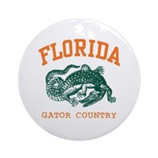 Florida Gator Country Ornament (Round)