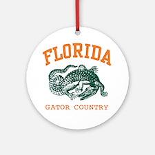 Florida Gator Country Ornament (Round)